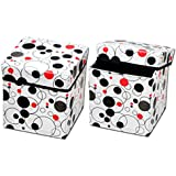 Tanish Portable & Foldable Laundry Box Cum Sitting Stool for Living Room (Pack of 1)