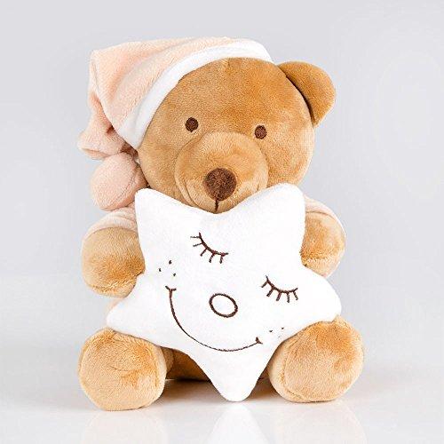 Kuschelige Spieluhr/Musikuhr/Einschlafhilfe in versch. Motiven und Melodien, Melodien:Sandmann, Spieluhren:Spieluhr Sleeping Bear Cream