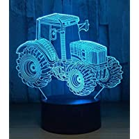 Chandelier E27 Vintage Light Wall Lamp Led Lightfarm Tractor 3D Led Lamp Deco Light Automobile Shape USB Charge Touch Switch Lamp 7 Colorful Kids Night Light for New Year Gift
