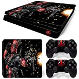 ZoomHit Ps4 Slim Playstation 4 Slim Console Skin Decal Sticker DeadPool + 2 Controller Skins Set (Slim Only)