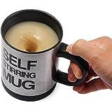 Taza de café eléctrico aislamiento doble Self Stirring cerveza zumo leche té taza 400ml negro