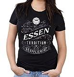 Mein leben Essen Girlie Shirt | Freizeit | Hobby | Sport | Sprüche | Fussball | Stadt | Frauen | Damen | Fan | M1 Front (XL)