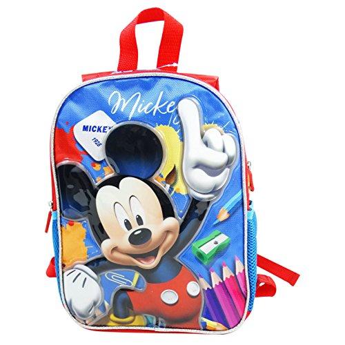 Disney mickey crayons - zaino dual face per bambini - spallacci imbottiti - colore: multicolor