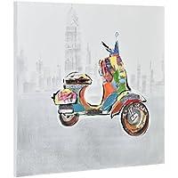 [art.work] Original mural para pared pintado a mano pintura moto sobre lienzo bastidor incluido