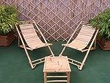 Bambusliegestuhl Sonnenliege Bambus-Liegefläche