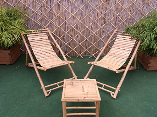 BIHL Bambusliegestuhl Sonnenliege Bambus-Liegefläche -