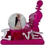 Valentine Romantic Love couple Glass Doom With Lighting Effect Statue - Handicraft Decorative Home Interior & Table Décor Figurine Gift item