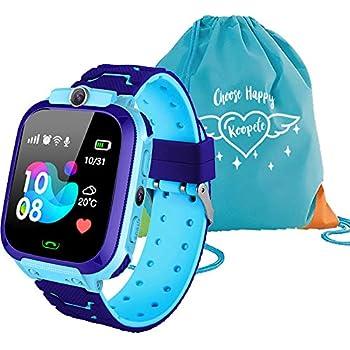 Koopete.Smartwatch niños.Regalo de Mochila.Reloj Inteligente niños con localizador LBS,cámara Fotos,Llamadas,botón SOS,Pantalla ...