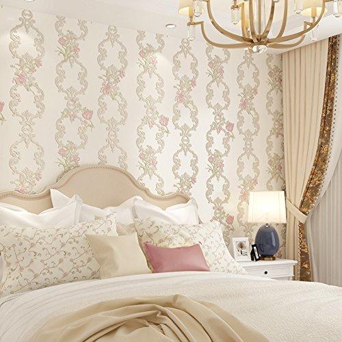 Idyllische Vliestapete Wohnzimmer Schlafzimmer Studie selbstklebende Tapete beige
