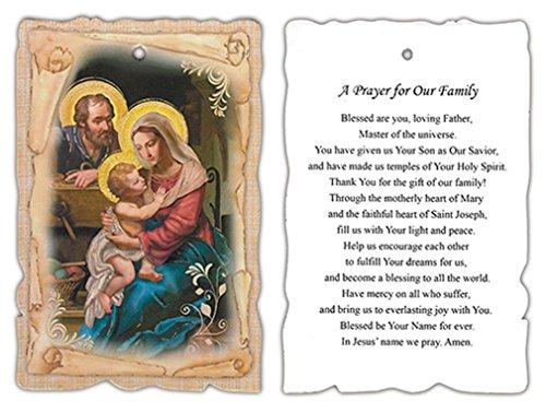 Holz Holy Family Wandschild, 33/10,2cm (W) 53/10,2cm (H)