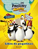 Pingüinos de Madagascar. Libro de pegatinas: Con pegatinas reutilizables