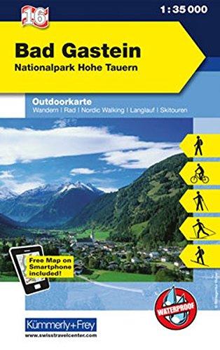 Bad Gastein, Nationalpark Hohe Tauern: Nr.16, Outdoorkarte Österreich, 1:35 000, Mit kostenlosem Download für Smartphone (Kümmerly+Frey Outdoorkarten Österreich)