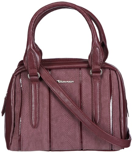 Tamaris ANDROMEDA Boston Bag A10403549, Damen Henkeltaschen, Rot (bordeaux 549), 25x19x15 cm (B x H x T) (Elegante Bag Boston)