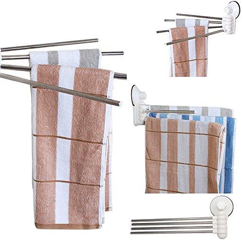 Vier-Arm-Badezimmer-Tuch-Halter-Zahnstange Purposefull - Wandmontage Typ - Umweltfreundlich - für Bad und Küche