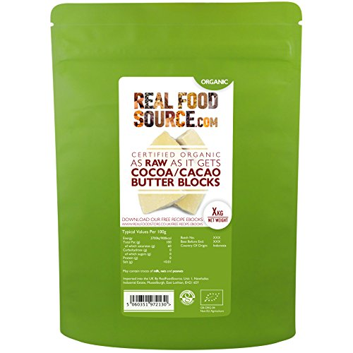 RealFoodSource Certified Organic 'As Raw As It Gets' Big Tree Farms Cacao / Cocoa Butter (1KG)
