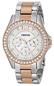 Fossil Women's Quartz Watch Ladies Dress ES2787 with Metal Strap