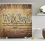 Nyngei Vereinigte Staaten Duschvorhang Vintage Verfassung