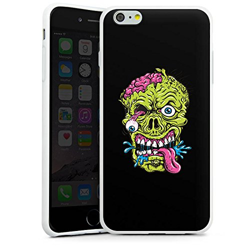 Apple iPhone X Silikon Hülle Case Schutzhülle Zombie Halloween Gruselig Silikon Case weiß