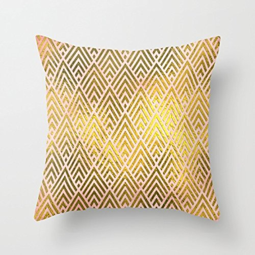 w Pillow Case of Geometry 18 X 18 Inches/45 by 45 cm,Best Fit for Gf,Gril Friend,Study Room,Chair,Bedroom,Girls Twice Sides ()