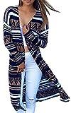 Damen Strickjacke Cardigan Langarmshirt Geometrische Irregular Lose Pullover Mantel Outwear Tops Strickmantel Strick Loose Strickjacke Kimono