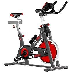 Fitfiu Besp-22 Bicicleta Indoor con Volante de inercia Silent+ para Spinning, Unisex Adulto, Negro, 24kg BESP22