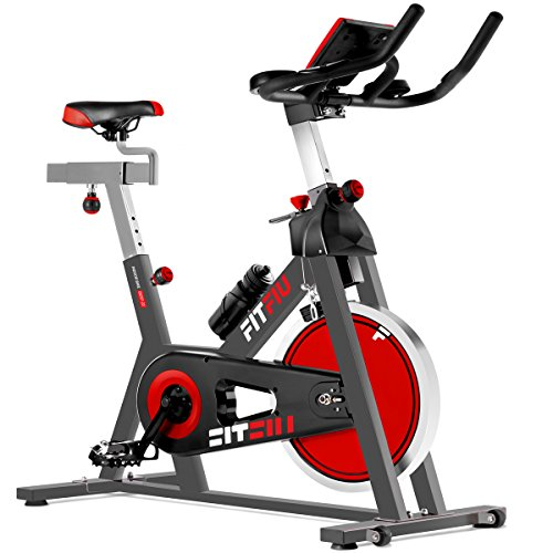 FITFIU Fitness Besp-22 Bicicleta Indoor con Volante de inercia Silent+ para Spinning, Unisex Adulto...