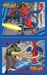 Hasbro - MB Puzzles - 166832 - Puzzle Enfant - Spiderman - 2 x 35 Pièces - L'homme de sable / Course poursuite