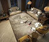 BAIYUDE Moderne Nouveau Chinois Tapis Imprimé Salon Chambre Salle De Bains Tapis...
