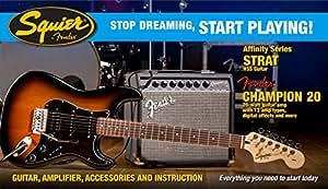 Squier Affinity HSS Strat BSB · Pack guitare électrique