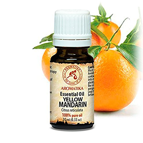Entspannung-aromatherapie-körper-Öl (Mandarine Öl 100% Naturreines Ätherisches 10ml - Citrus Reticulate - Italien - Mandarinenöl Für Guten Schlaf - Beauty -Aromatherapie - Entspannung - Aroma Diffuser - Duftlampe - Gelb Mandarinen Öl)