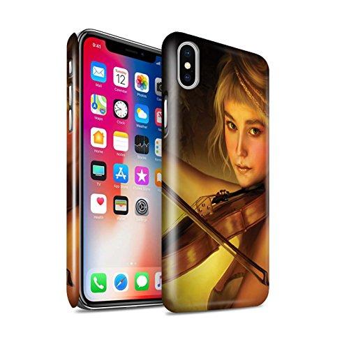 Officiel Elena Dudina Coque / Clipser Brillant Etui pour Apple iPhone X/10 / Pack 6pcs Design / Réconfort Musique Collection Beauté/Violon