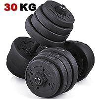Popamazing 30kg/20kg Fitness Dumbbell Set Collars Adjustable Dumbbells Weight Set for Body Workout Home Gym