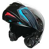 Best Motorcycle Helmets - Leopard LEO-888 GRAPHIC DVS Flip up Front Helmet Review