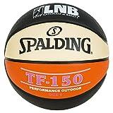 SPALDING - LNB TF150 SZ.6 (83-415Z) - Ballons de basket NBA - Touché et Contrôle améliorés - Matière Durable - noir/orange/blanc...