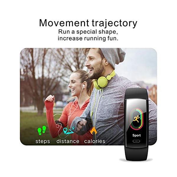 DokFin Pulseras Inteligentes, Fitness Tracker HR con Monitor de Ritmo cardíaco Reloj Rastreador de Actividad Reloj con… 4