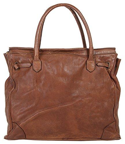 Cluty Shopper Signore In Vera Pelle Medium 019310 Cognac