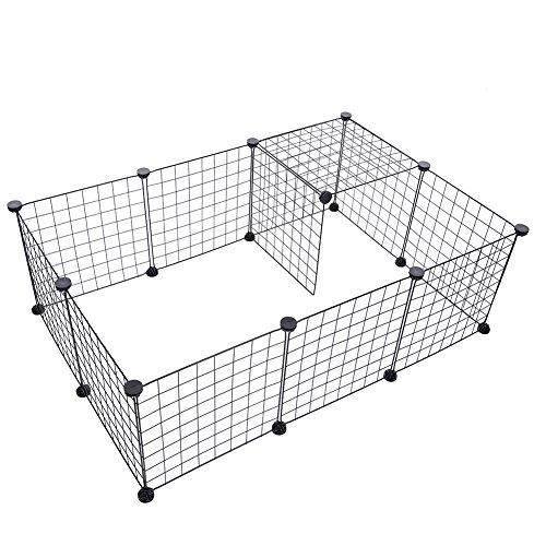 Laufgitter Hund Yunt Auslauf / Freigehege für Haustier Metall tragbar selbst zusammensetzen 6pcs 35*35