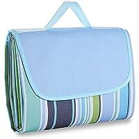 GYOYO Outdoor Picnic Manta plegable portátil / Manta | Manta de hierba plegable | Manta para camping | Manta de playa impermeable con respaldo PE y asidero para toallas de mano, 200 x 150 cm