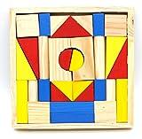 #3: CraftDev Wooden 31Pcs Block Montessori Children Kids Toys Intelligence Early Educational Game