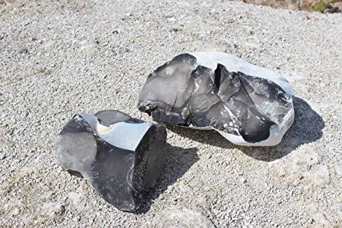 konvoysg Englisch Flint Stein für die Verwendung mit einem Carbon Stahl Striker wird mit einem Notfall Zunder Jute Tasche