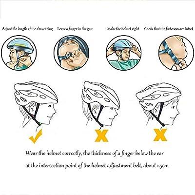 HSDDA Porous Adjustable Bike Helmet Ventilation Bicycle Helmet for Men Women (Blue+Black+White) by HSDDA