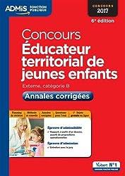 Concours Éducateur territorial de jeunes enfants - Catégorie B - Annales corrigées - Concours 2017
