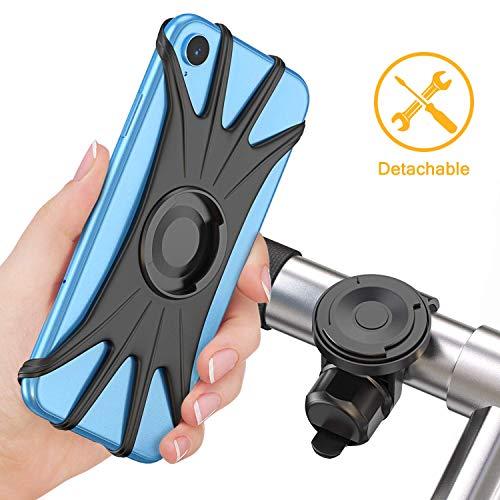 WEALTH Abnehmbare Fahrradhalterung, Universal Verstellbarer Lenker Zubehör, Fahrrad Motorrad Handyhalter für iPhone XR/XS/XS Max / 8 / 8Plus, Samsung S10Plus / S10 / S10e / Note 9 / S9