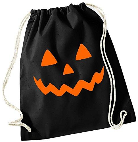 HALLOWEEN Rucksack Turnbeutel zun Sammeln von Süssigkeiten ! Gymbag (Selbstgemacht Zombie Kostüm)