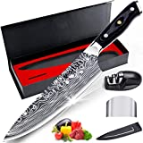 Chef Knife, MOSFiATA Kitchen Knife 8 inch, Premier German 4116 High Carbon Stainless