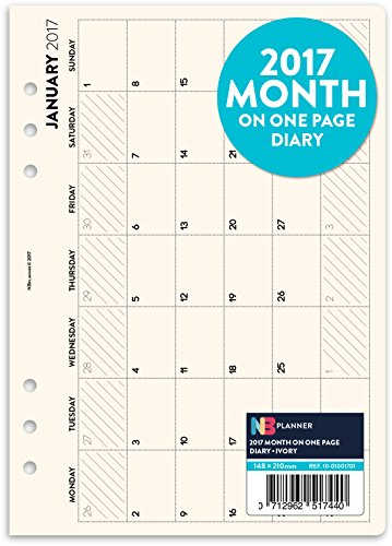 2017-month-on-one-page-planner-refill-insert-english-filofax-a5-compatible-ivory