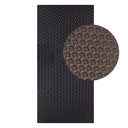 Langlauf Schuhbedarf Sohlengummiplatte 250mm x 500mm 4mm stark Profil Star in verschiedenen Farben zur Anfertigung von Schuhsohlen oder als Anti Rutsch Belag - 4 mm Stärke schwarz (dunkelbraun)
