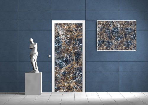 Granit Grau Tür (Vlies Tür Türfototapeten Fototapete Tapete GRANIT NATURSTEIN 517VE T)