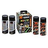 Foliatec 2099 Pellicola Spray, 2 x 400 ml e 2 x 400 ml Fondo, Arancione Fosforescente