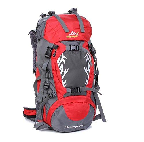 40L Outdoor-Freizeit und Camping-Rucksack Bergsteigen Taschen wasserdicht Reiten Profi-Paket Red